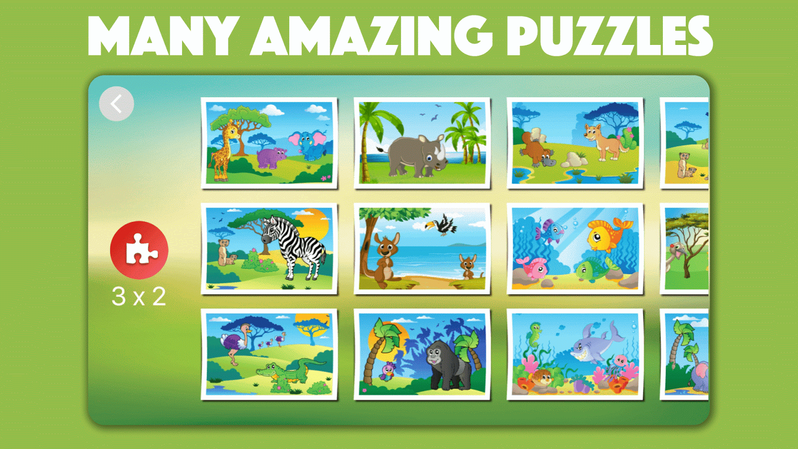 Cute Animal Jigsaw Puzzles for kids & toddlers 🦁- screenshot