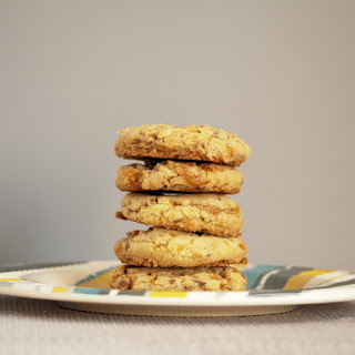 Browned Butter Butterfinger Bits Cookies.