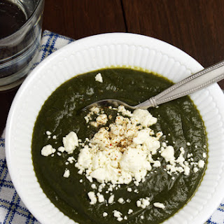 Creamy Spinach Soup With Goat Cheese