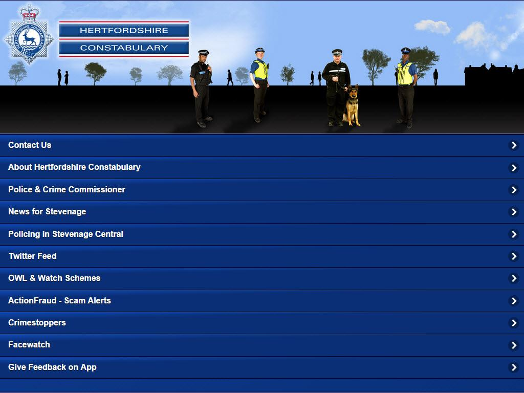 Hertfordshire Police- screenshot
