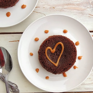 Chocolate Molten Lava Cakes with Peanut Butter Sauce