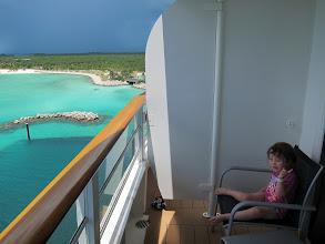 Photo: Fianna makes her point at Castaway Cay
