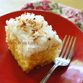 Creamy Coconut Pineapple Cake.