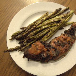 BBQ Pork Ribs and Lemon Garlic Grilled Asparagus Recipe