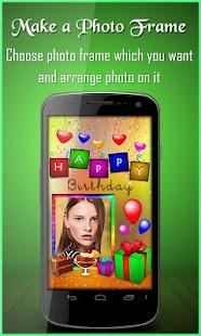 Birthday Greeting Cards Maker: photo frames, cakes - náhled