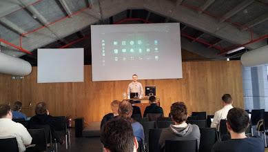 Photo: Jakub Steiner ( Graphic Designer, Gnome project ) talk