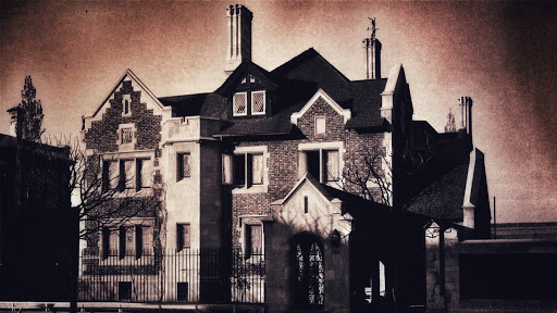 Antigua foto de la casa embrujada del barrio republica