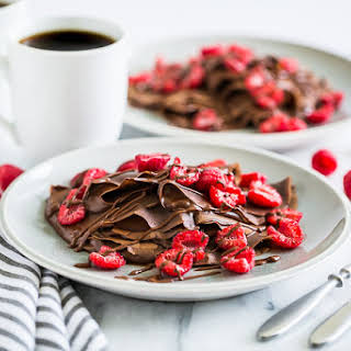 Double Chocolate Gluten Free Crepes.