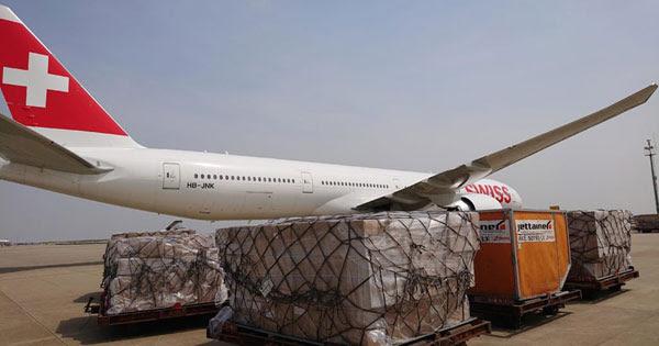 Перевозка грузов из Швейцарии самолетом