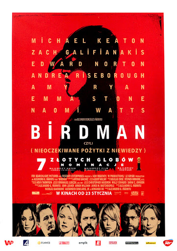 Przód ulotki filmu 'Birdman'
