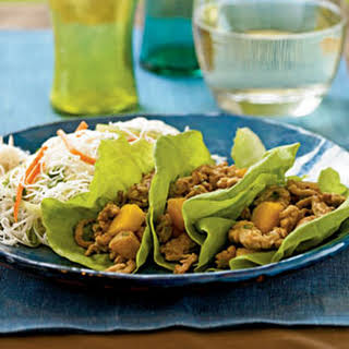 Chinese Chicken and Persimmon Lettuce Wraps.