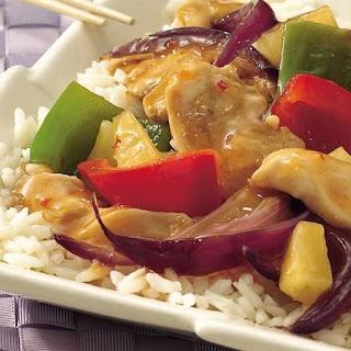 Chicken and Sweet Pepper Stir-Fry.