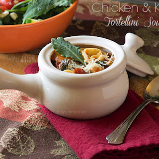 Chicken & Kale Tortellini Soup