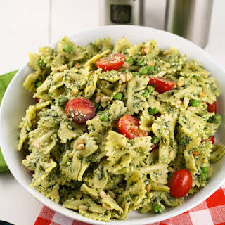 Pesto Pasta Salad with Peas.