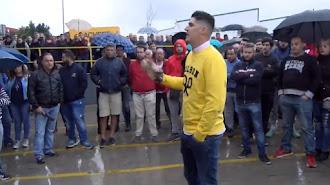 Joaquín López, portavoz de los agricultores que han convocado el paro.