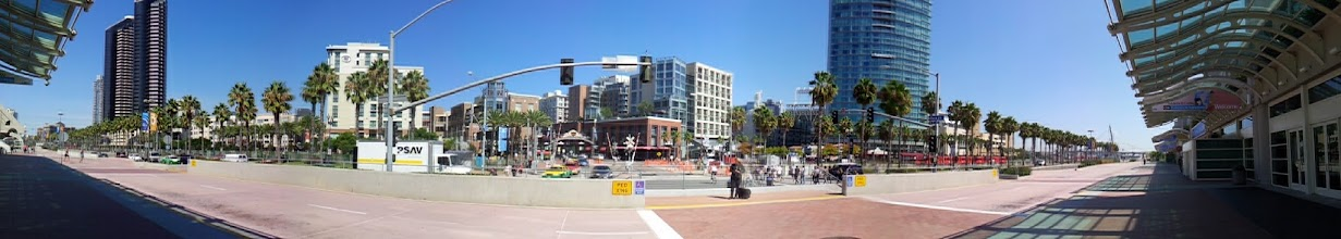 Photo: Looking back on the Gaslamp from the convention center