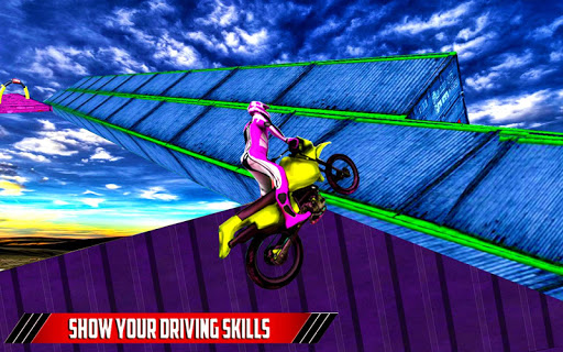Bike Stunt Racing Tricky Track Driving 🚵