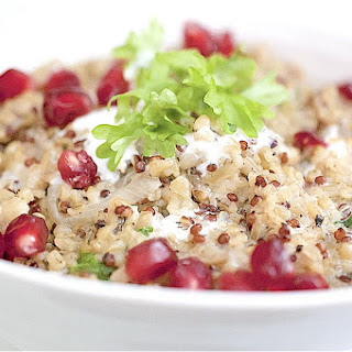 Freekeh With A Lemon Garlic Yoghurt And Pomegranate
