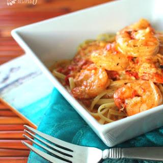 Creamy Cajun Shrimp Pasta.