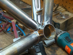 Photo: I caught a glimpse from this angle and I really love the way all the curves of the bottom bracket look.