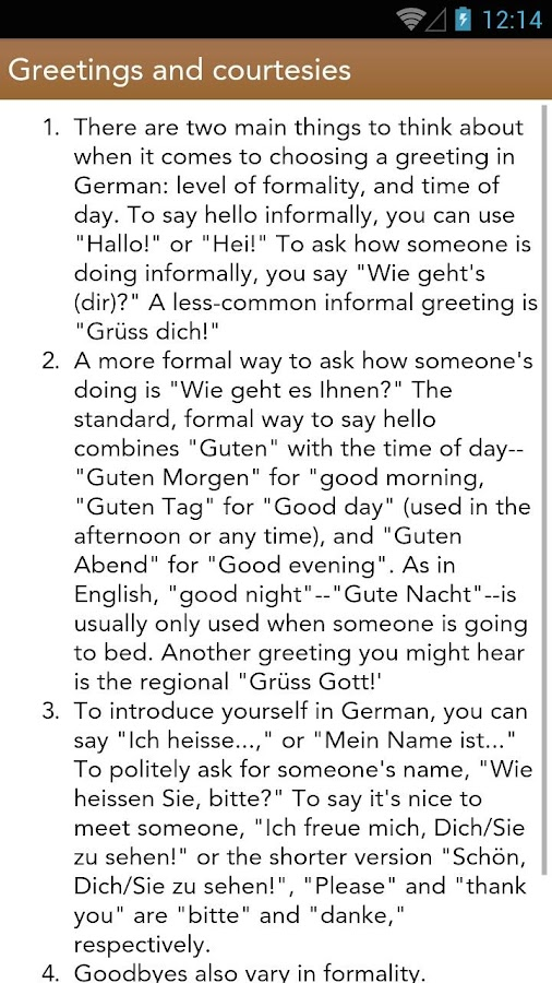 German Class- screenshot