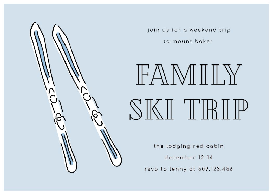 Family Ski Trip - Card Template