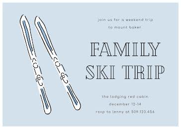 Family Ski Trip - Card Template