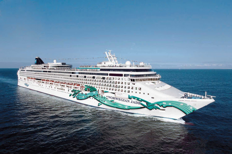 Norwegian Jade: The large round domes atop cruise ships are protective shells that encase free-moving antennas that transmit satellite communications.