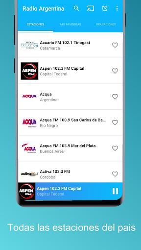 radio argentina - chromecast and recorder stations screenshot 2