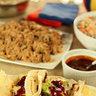 Slow Cooker Kalua Pork Tacos…and More Football Food and Drinks!
