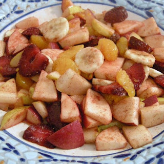 Fresh Fruit Salad with Cinnamon Nutmeg Syrup
