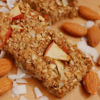 Homemade Apple Almond Granola Bars.