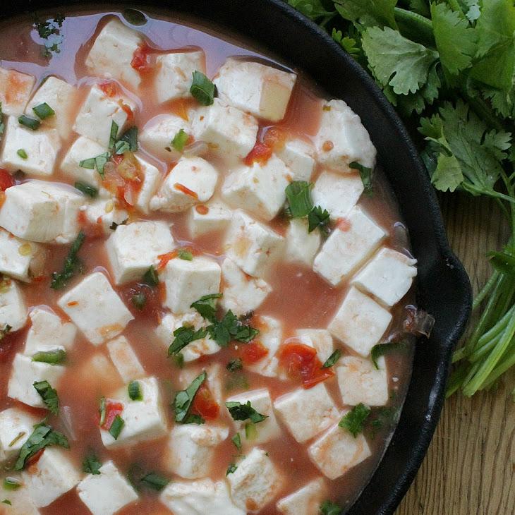 Panela Cheese in Mexican Red Salsa (Queso Panela en Salsa Roja)