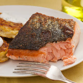 Basic Seared Salmon Fillet.