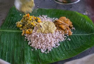 Photo: A Light Lunch on a Banana (Plantain) Leaf At Mankumban On the Island Of Kayts Northern Sri Lanka