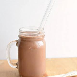 Healthy Chocolate Peanut Butter Protein Smoothie (no weird powder needed).