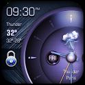 Analog Clock on Lockscreen icon