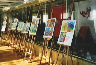 Photo: Plansze z pracami konkursowymi dzieci na wystawie z 2005 r.
