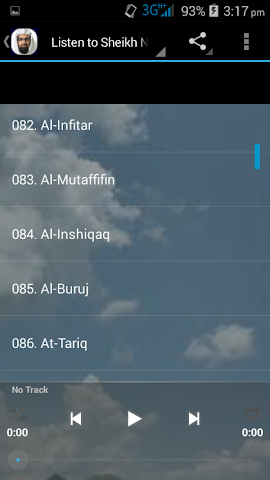 android Nasser Al Qatami Juz Amma MP3 Screenshot 3