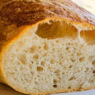 Homemade Italian Ciabatta Bread.