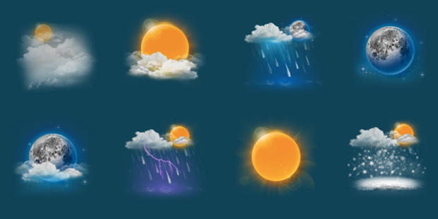 Chronus: MIUI HD ☀️ Weather Icons - náhled