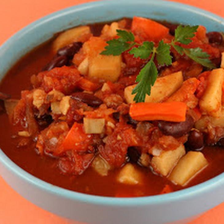 Sweet Potato Chili (vegan!) Slow Cooker