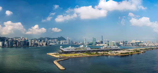 Kai-Tai-Cruise-Terminal.jpg - A Royal Caribbean and Princess Cruises ship take up berths at the Kai Tai Cruise Terminal in Hong Kong.