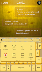 Golden Yellow Keyboard Theme screenshot 2