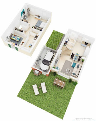 Vente villa 3 pièces 76,4 m2