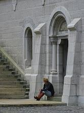 Photo: Tour Guide Takes a Break, Neuschwanstein Castle, Bavaria