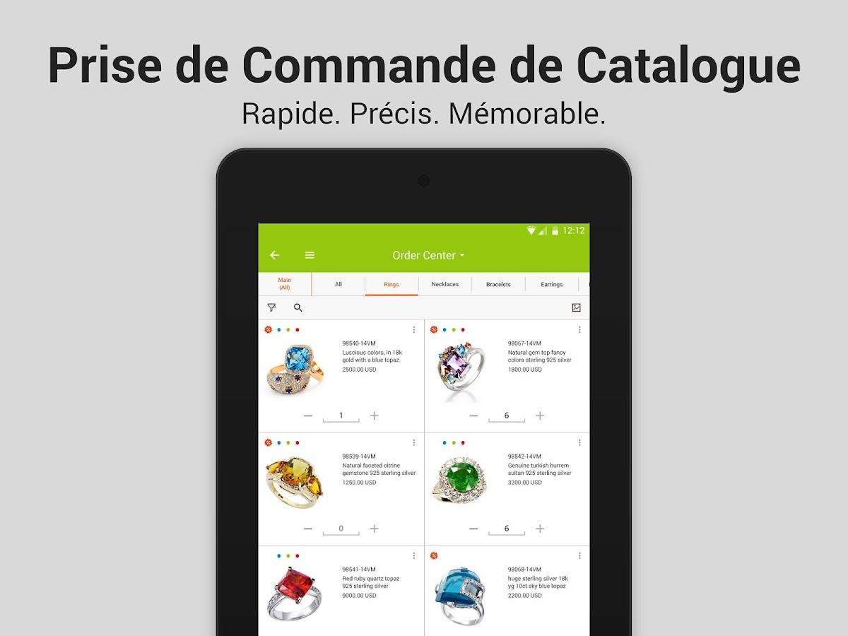 Pepperi Catalogue -  Commandes – Capture d'écran