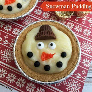 Snowman Pudding Pies