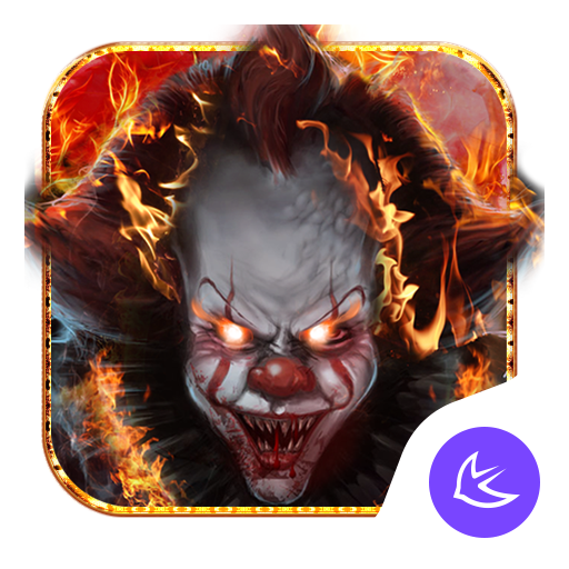 Evil Flame Scary Clown Theme & HD wallpapers