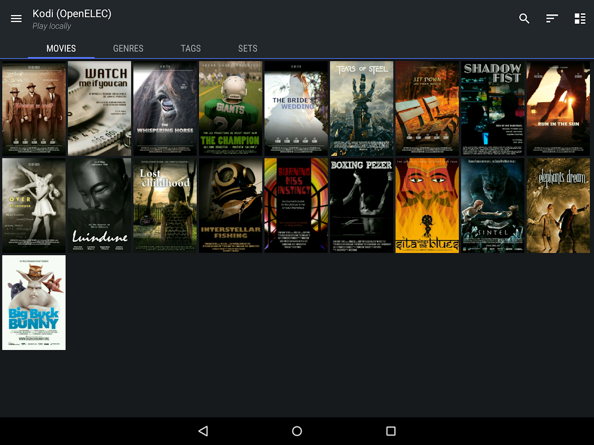 Yatse, the Kodi / XBMC Remote- screenshot